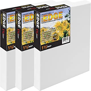 The Edge All Media Cotton Deluxe Pre-Stretched Canvas for Painting - Paintable Edges, 14 Ounce Priming for Richness and Pu...