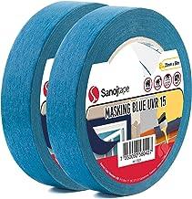 Sanojtape Blauw Maskerende Tape Pro (2-Pack) 25 mm x 50 m Professionele Maskeringstape UV-Bestendig tot 14 Dagen Buiten | ...