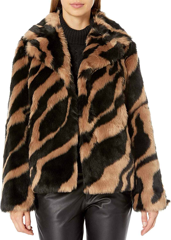 Trina Turk Women's Roma Faux Fur Jacket