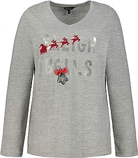 ULLA POPKEN Sweatshirt mit Schriftzug Sleigh Bells Maglia di Tuta Donna