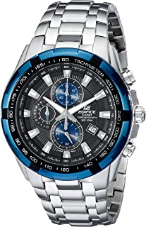 Men's EF539D-1A2 Edifice Stainless Steel Analog Black Dial Chronograph Watch