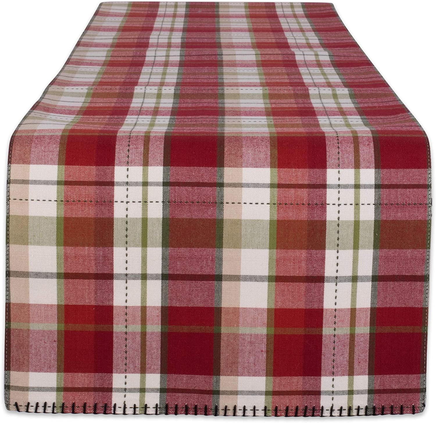 DII Spring new work one after another 5 ☆ very popular Plaid Kitchen Textiles Table Trail 14x72 Mountain Runner