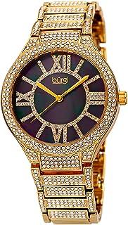 ساعة يد كوارتز للنساء من بورغي، شاشة انالوج وسوار من الستانلس ستيل