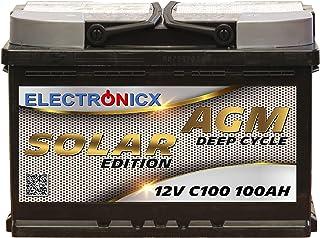 Solarbatterie 12 V 100 AH elektronisk solutgåva AGM batteri sol batteri strömförsörjning strömförsörjning förvaring fotovo...