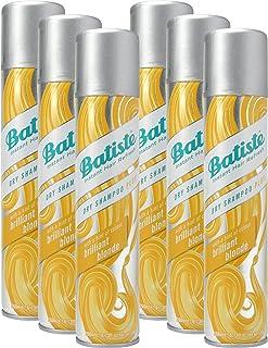 Champú seco Batiste en seco brillante rubio rubio con un toque de color para cabello rubio cabello fresco para todo tipo ...