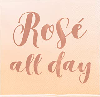 Juvale Rose All Day Bachelorette Paper Party Cocktail Napkins (50 Pack)