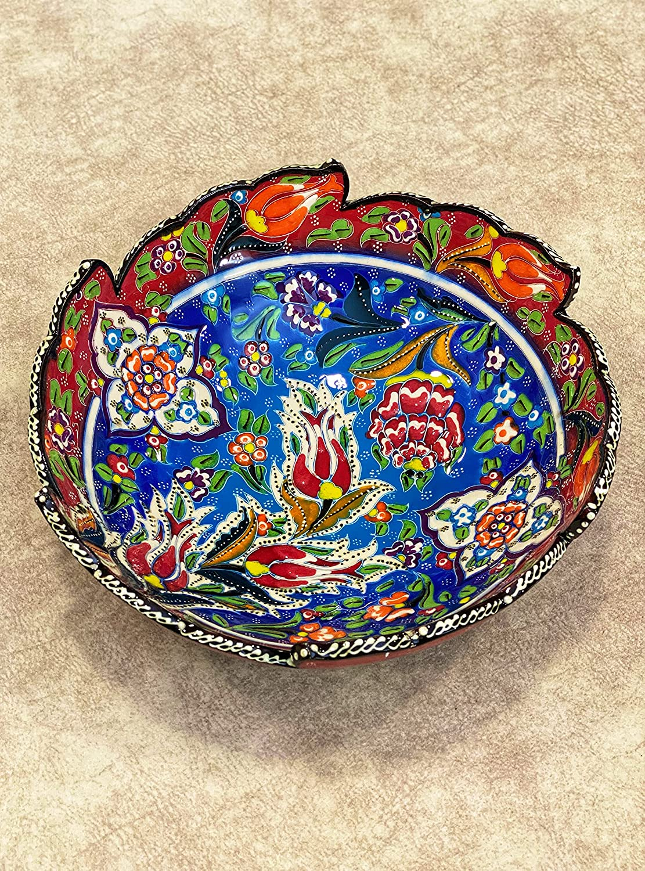 IstanbulArtWorkshop Complete Free Ranking TOP3 Shipping 10'' Decorative Ceramic Turki Bowl Handmade