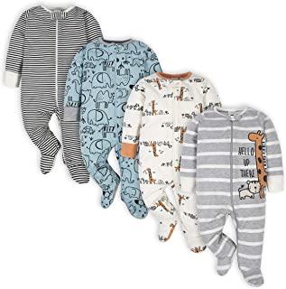 baby-boys 4 Pack Sleep 'N Play Footie