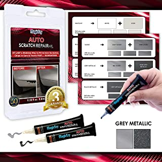 MagicEzy Auto Scratch Repairezy (Gray Metallic Kit): Repair Car Paint Chips in Seconds - Precise Color Match - Touch-Up Filler – No Messy Drips