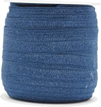 Mandala Crafts Fold Over Elastic Stretch Ribbon for Baby Girl Hair Ties, Hairbows, Headbands, Sewing (Air Force Blue, 1.5CM 5/8 Inch 20 Yards Roll)