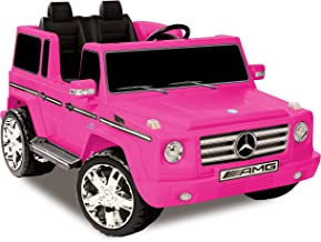 Kid Motorz Mercedes Benz G55 AMG 12 V Electric Ride On Two Seater in Pink with Sound, Lights, Battery Power Indicator & Rear Suspension Battery Powered Riding Toy Ride On