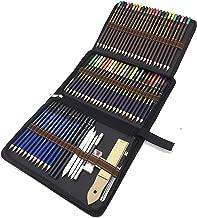 Juego de lápices de dibujo loetad 75 piezas Kit de arte profesional con acuarela