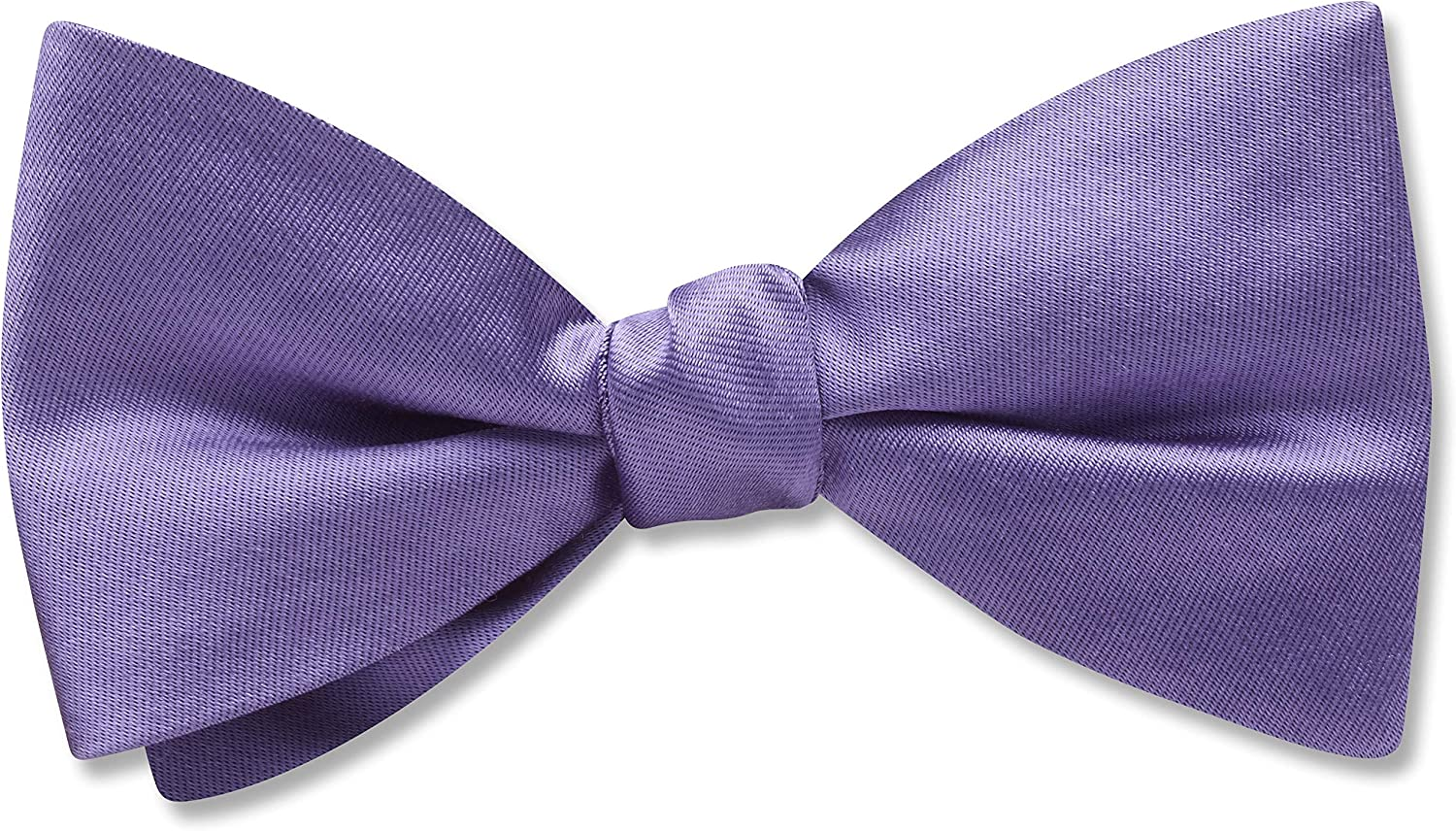 Somerville Lapis Purple,Blue Solid, Men's Bow Tie, Handmade in the USA