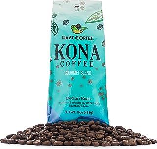 Hawaiian Kona Coffee (GOURMET BLEND) Whole Bean, Rich Medium-Dark Roast Flavor, 1 lb.