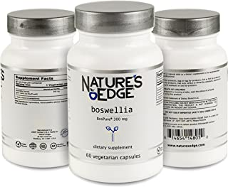 Nature's Edge® Pure Boswellia Extract 300mg Vegetarian Capsules for Healthy Joints! Formulated with BosPure® Boswellia (10% acetyl-11- Keto boswellic Acid) for Maximum Benefit-60 Vegetarian Capsules