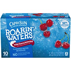 Capri Sun Roarin' Waters Wild Cherry Waterfall Flavored Water, 10 ct - Pouches, 60.0 fl oz Box