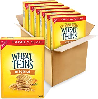 Wheat Thins Original Whole Grain Wheat Crackers, Holiday Christmas Crackers, Family Size, 6 - 16 oz Boxes