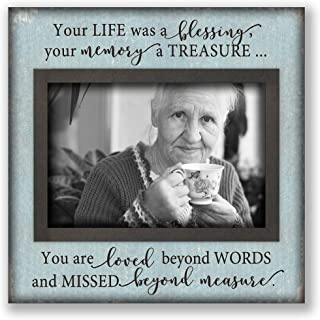 Desktop picture plaque frame loss of loved one, sympathy gift mother father grandma Bluish-Brown 52