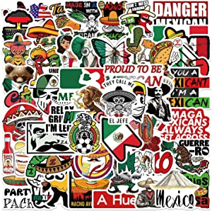HardHat Mexican Chingon Stickers Pack |50pcs Calcomanías Mexicanas para Carro - Funny Vinyl Sticker for - Tool Box Helmet Bumper Laptop Mexican Pride Stickers for Adult Workers Construction Electrician