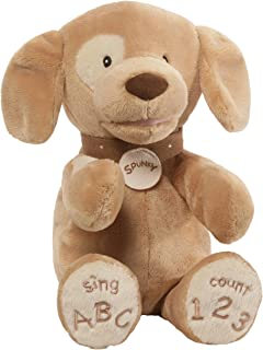 GUND Baby Spunky Doggie ABC 123 Animated Stuffed Animal Plush, Tan, 14