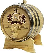 Personalized Whiskey Barrel - Monogrammed Wine Barrel - Custom Oak 2 Liter Barrel - WPS Designs