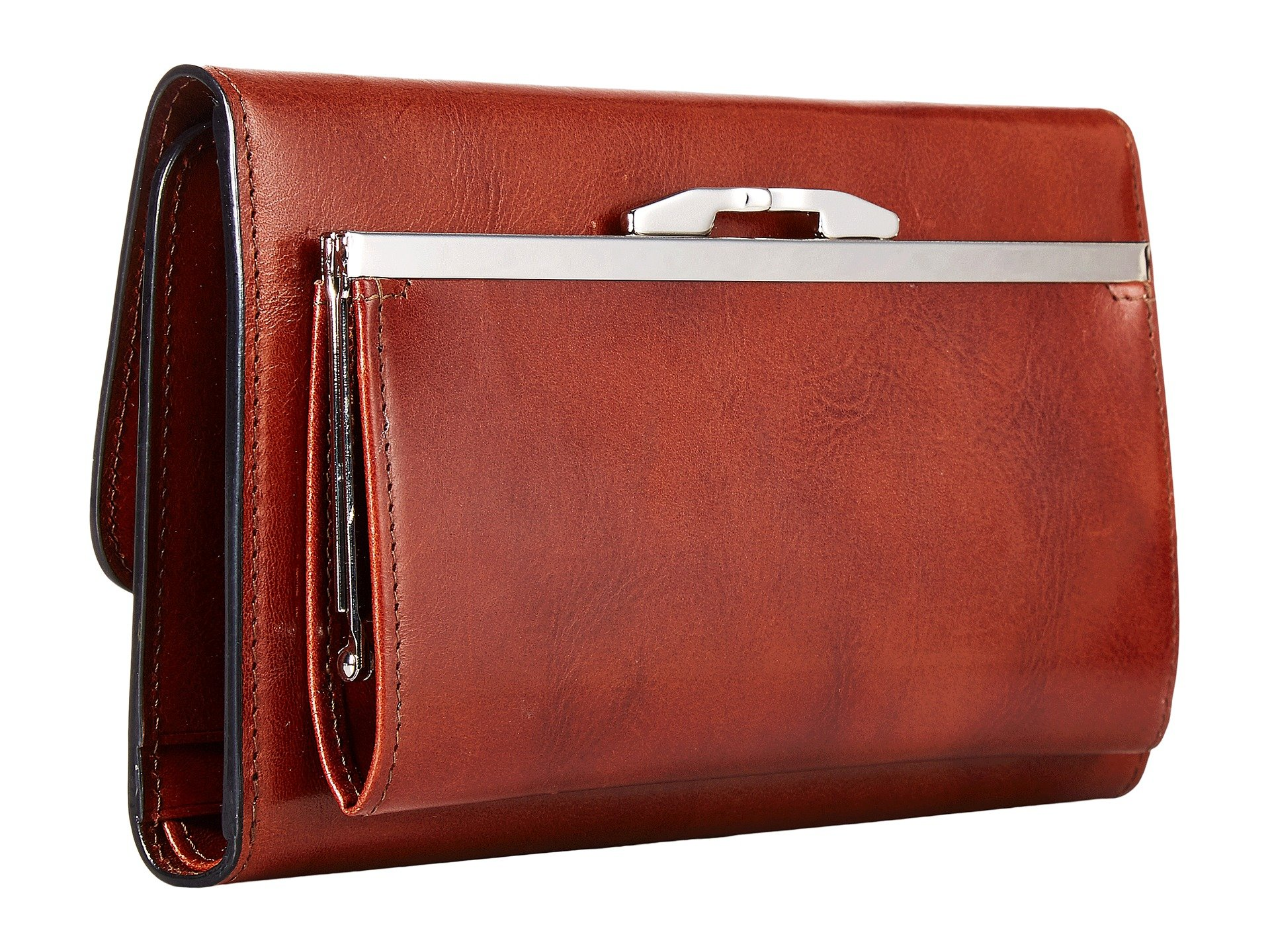 Amber Leather Old Bosca Clutch Checkbook gIqnx