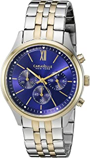Caravelle New York Men's Quartz Stainless Steel Dress Watch (Model: 45A131)