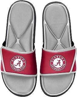 NCAA Alabama Crimson Tide Mens Deluxe Foam Sport Shower Slide Flip Flop SandalsDeluxe Foam Sport Shower Slide Flip Flop Sandals, Team Color, Medium/Mens Size 9-10