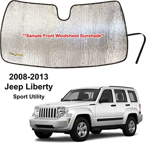 wholesale YelloPro Custom Fit sale Automotive Reflective Front Windshield Sunshade Sun Shade Accessorie for 2008 2009 2010 2011 2012 2013 Jeep Liberty Sport new arrival Utility outlet online sale
