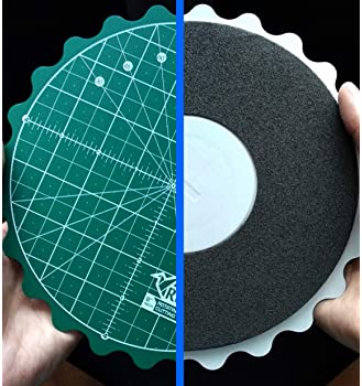 REZY Self-Healing Round Rotating Rotary Turntable Green Cutting MAT (8 inches)