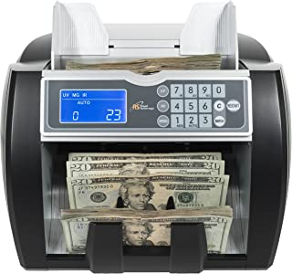 Royal Sovereign High Variable Speed Money Counting Machine, With UV, MG, IR Counterfeit Bill Detector & Front Loader (RBC-...