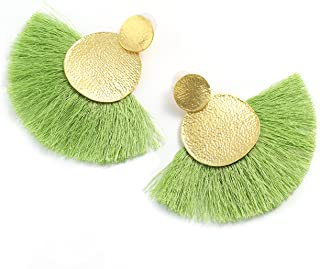 Colorful Thread Tassel Dangle Drop Earrings Jewelry for Women Girls Stud Bohemian Fashion Statement Fringe Wedding vintage Costume Boho Engagement gifts