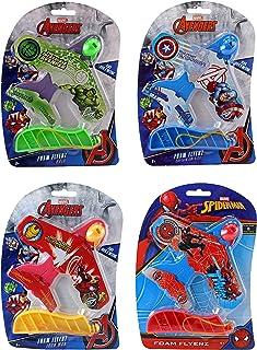 Marvel Avengers & Spider-Man Foam Flyerz Hulk, Iron Man, Captain American & Spiderman Set of 4