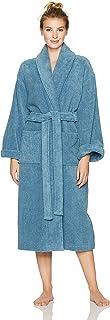 Pinzon by Amazon, Bata para Baño de algodón Terry Albornoz, Azul Marino, Grande/X-Grande