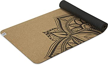 Gaiam Cork Yoga Mat | Natural Sustainable Cork Resists Germs and Odor | Non-Toxic TPE Rubber Backing | Great for Hot Yoga,...