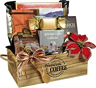 Gift Basket Village The Jingle Java Caffe', Holiday Coffee Gift - With Specialty Coffees, Belgian Chocolates, Sugar Cookie...