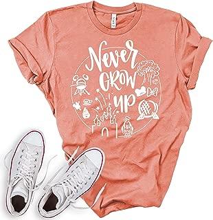Never Grow Up Shirt   Women's Cute Shirt   Unisex Sizing   Cute Shirt for Vacation