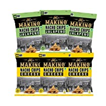 Makino No Onion No Garlic Nacho Chips (Cheese with Herbs, Jalapeno)(Each 60 gm)(Pack of 6)