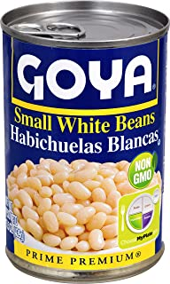 Goya Foods Small White Beans (Habichuelas Blancas), 15.5-Ounce Cans (Pack of 24)