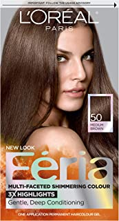 Loreal Feria - 50 Havana Brown (Medium Brown), (Pack of 3)