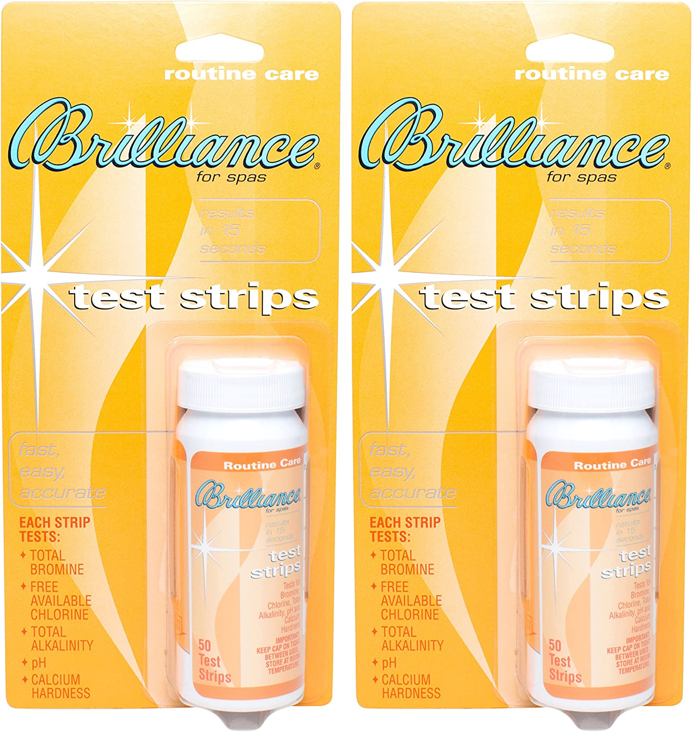 Dallas Mall Brilliance for Spas Inexpensive Test Strips 50 2 Pack - ct