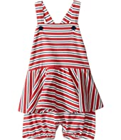 Ralph Lauren Baby - Jersey Stripe Peplum Shortalls (Infant)