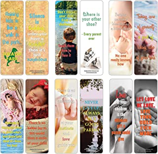 Creanoso Inspiring Sayings Parenting Quotes Bookmarks for Parents (60-Pack) – Premium Gift Bookmarks Gift Ideas for Men & Women Parents – Unique Family Gifts