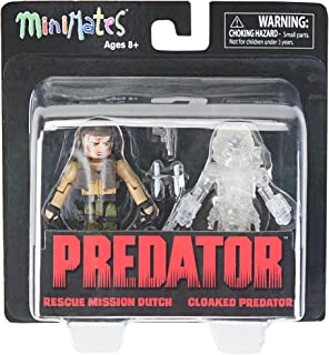 DIAMOND SELECT TOYS Predator 2 Minimates Rescue Mission Dutch & Cloaked Predator Mini Figures