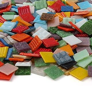 Milltown Merchants™ Mosaic Tiles - Bulk Mosaic Tile Assortment - 3/4 Inch (20mm) Mixed Colors Venetian Glass Tile - 7 Pound (112 oz) Craft and Backsplash Tile