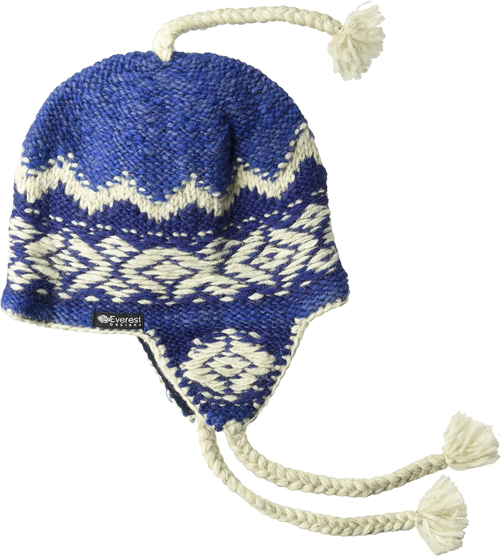 Everest Designs Unisex Inca Earflap, bluee, One Size