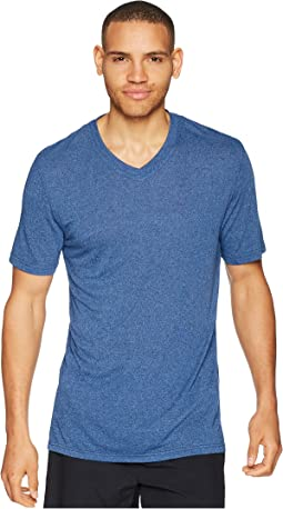 50 Rayon/50 Poly Knit Short Sleeve V-Neck Tee