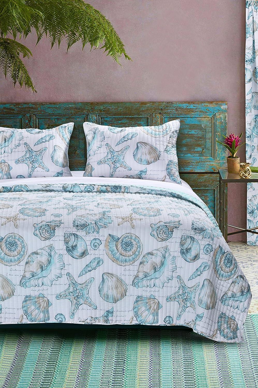 Barefoot Bungalow Cruz Coastal Quilt Set, King, Multicolor