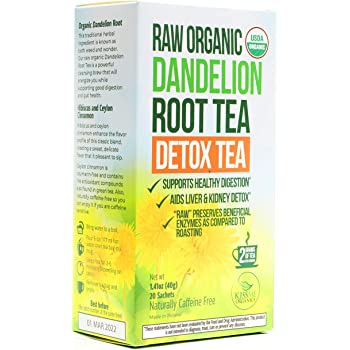 Dandelion Root Tea Detox Tea - Raw Organic Vitamin Rich Digestive - Helps Improve Digestion and Immune System - Anti-inflammatory and Antioxidant (1 Pack)
