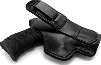 Cebeci Arms Right Hand Shirt Tuck TUCKABLE IWB AIWB Inside Pants Concealment Holster in Black Leather for Glock 43, 43X